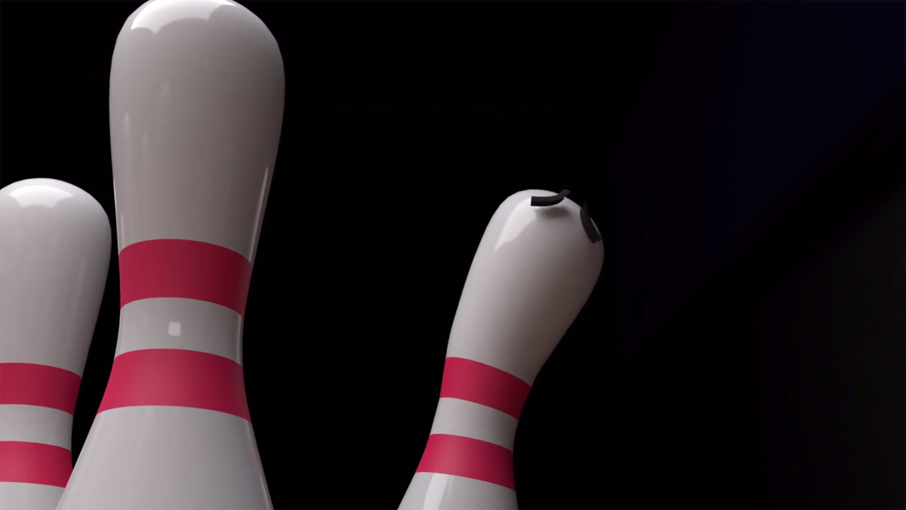 Strike-Animation beim Bowling aus der Sicht des Pins The-Bowling-Alley-Screen-When-You-Get-A-Strike