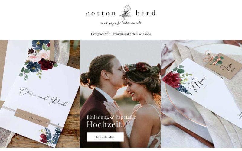 Hochzeitskarten drucken lassen bei Cotton Bird