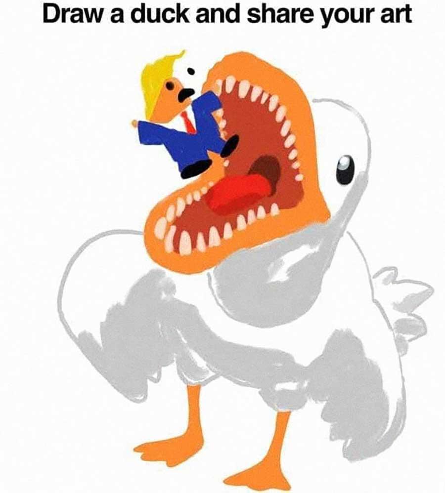 Wenn man das Internet bittet, eine Ente fertig zu zeichen draw-a-duck-challenge_01