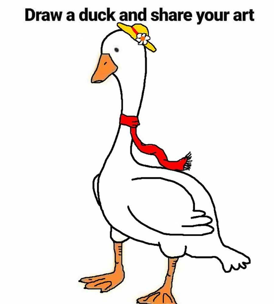 Wenn man das Internet bittet, eine Ente fertig zu zeichen draw-a-duck-challenge_13
