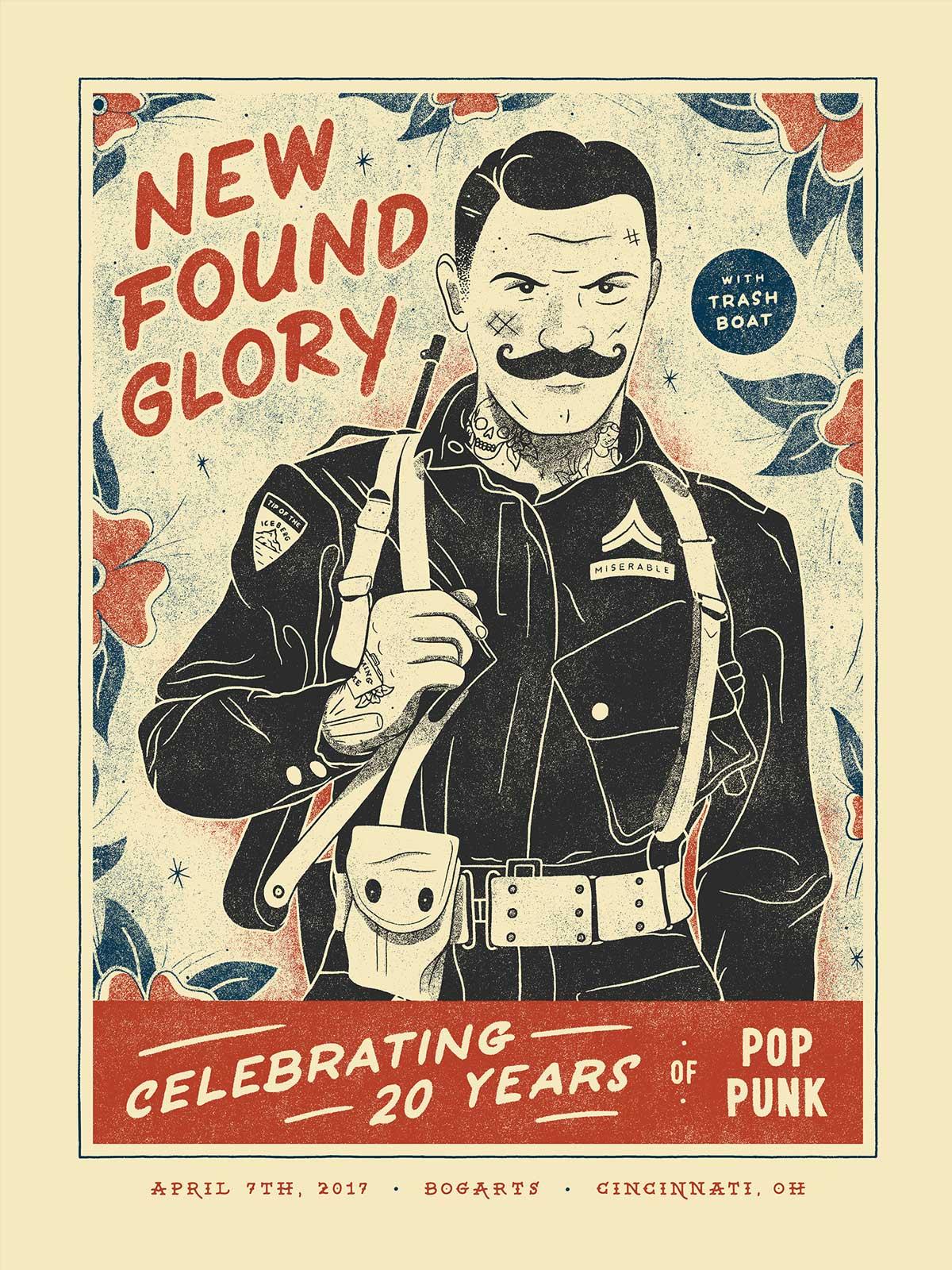 Illustrierte Konzert-Plakate von Nicholas Moegly gig-posters-Nicholas-Moegly_03