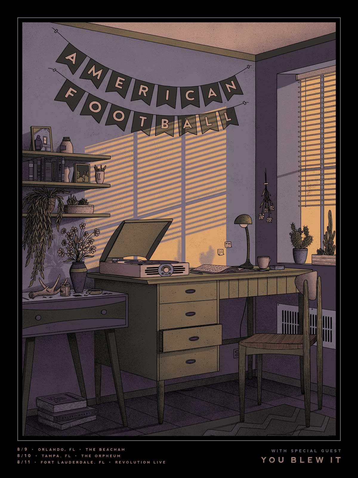 Illustrierte Konzert-Plakate von Nicholas Moegly gig-posters-Nicholas-Moegly_04