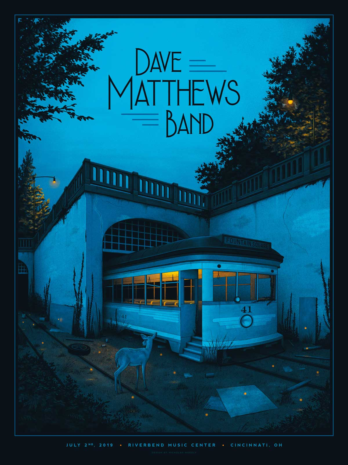 Illustrierte Konzert-Plakate von Nicholas Moegly gig-posters-Nicholas-Moegly_05