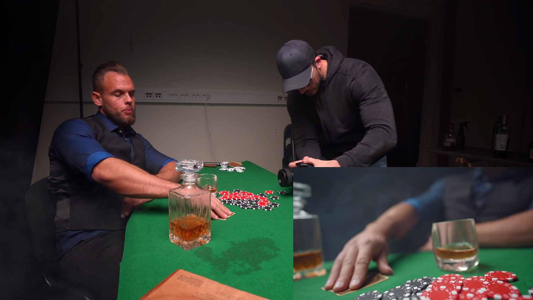 Making of einer ziemlich coolen Poker-Szene