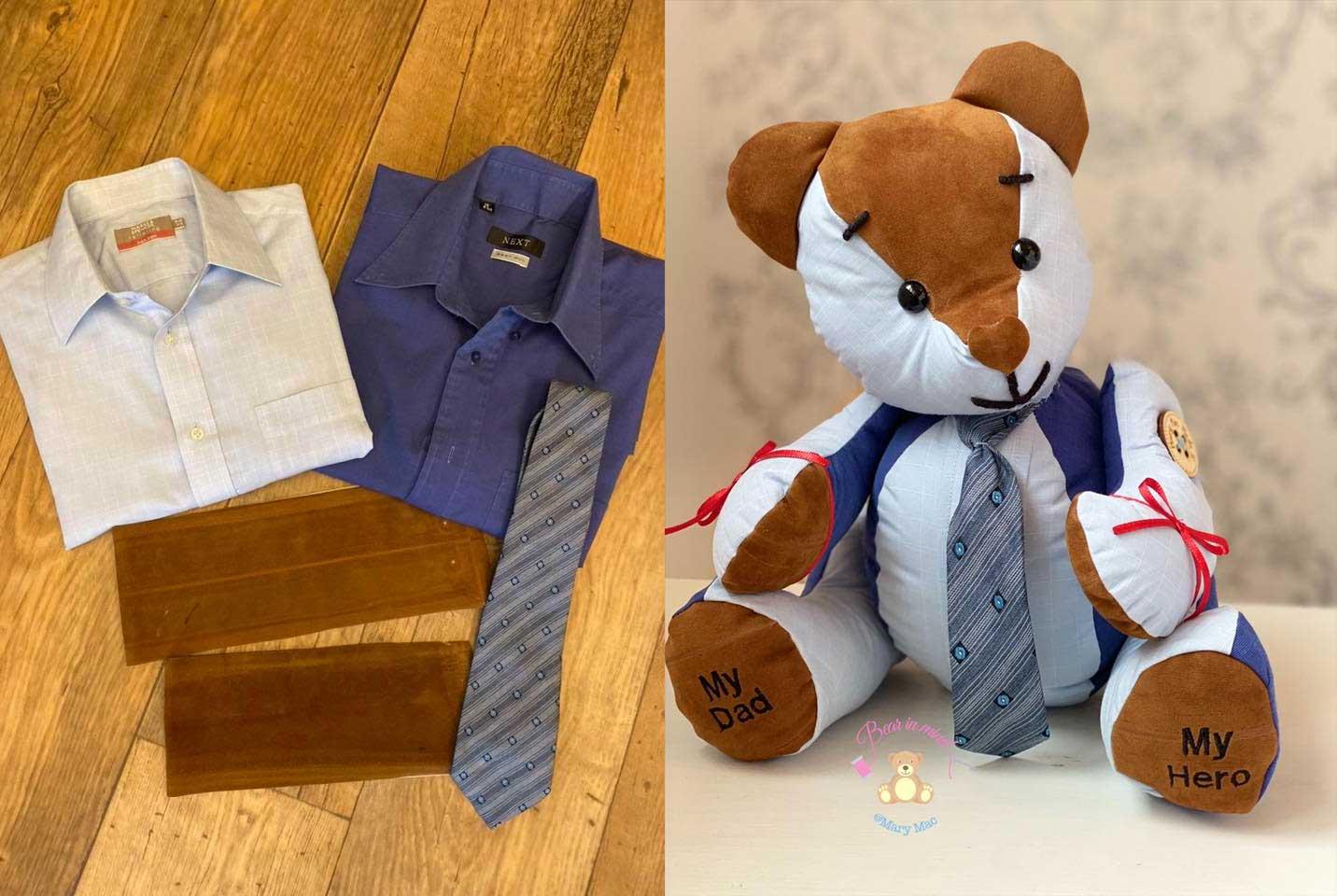 Teddybären aus der Kleidung geliebter Menschen mary-mac-teddybears_03