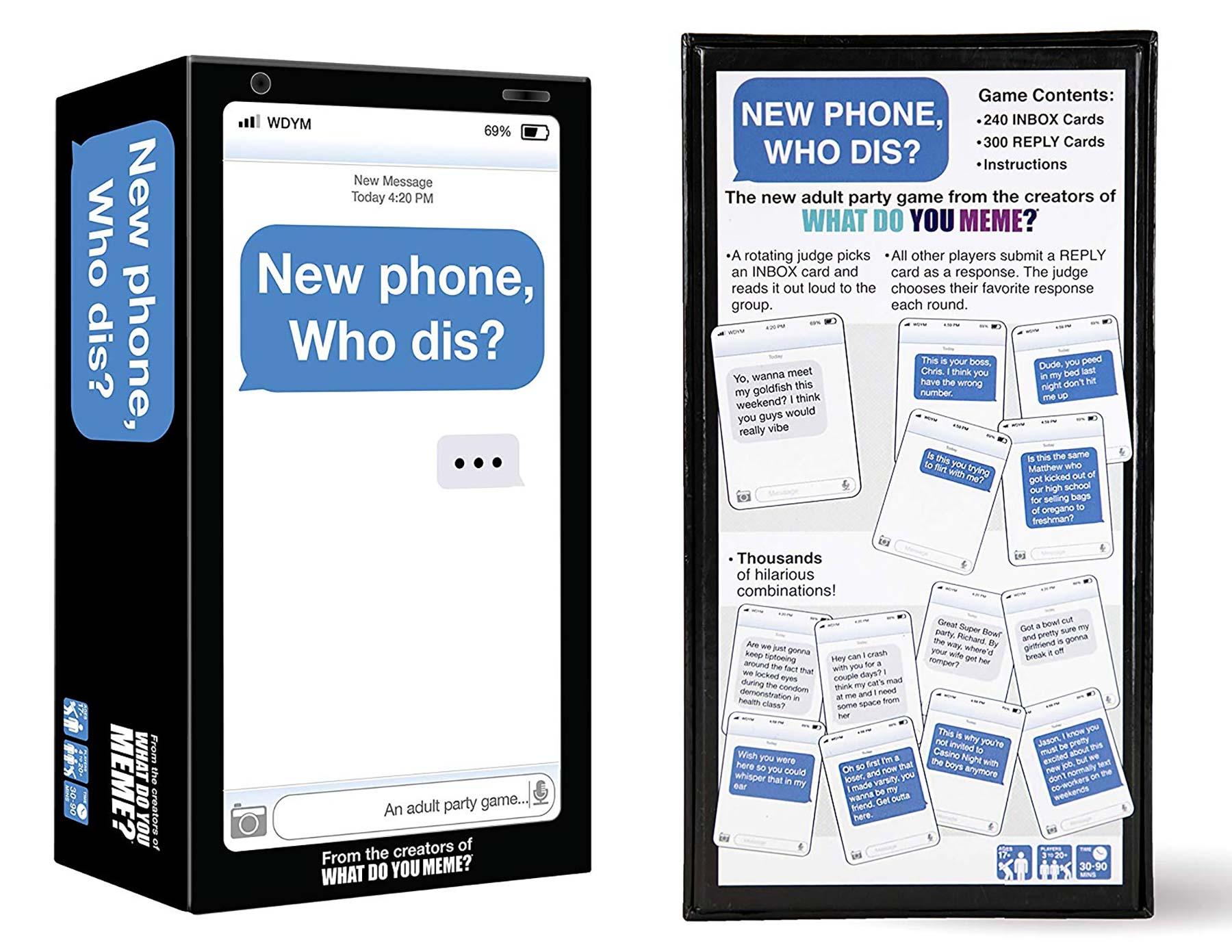 "Karten-Partyspiel ""New Phone, Who Dis?"" new-phone-who-dis-gesellschaftskartenspiel_02"