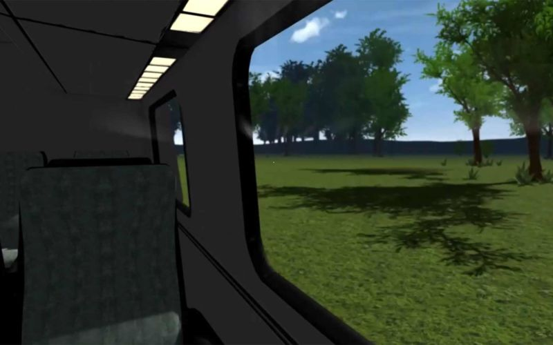 """""""No Destination"""", die Im-Zug-Sitzen-Simulation"""