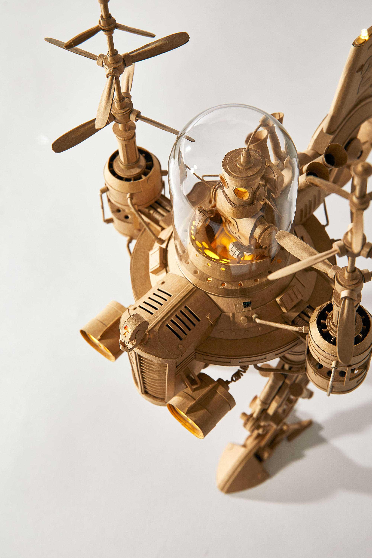 Papp-Steampunk-Roboter von Greg Olijnyk papproboter-Greg-Olijnyk_02