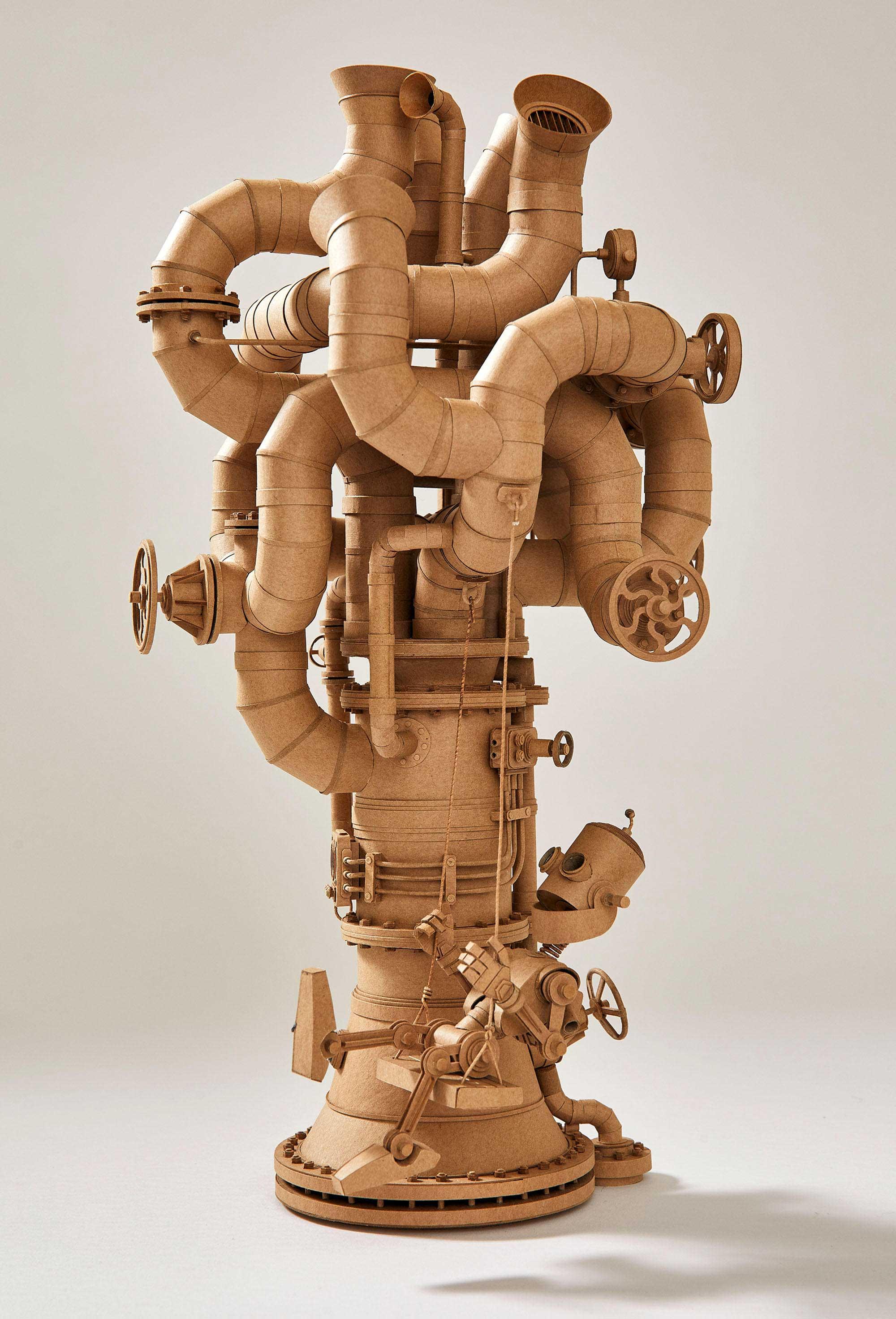 Papp-Steampunk-Roboter von Greg Olijnyk papproboter-Greg-Olijnyk_04