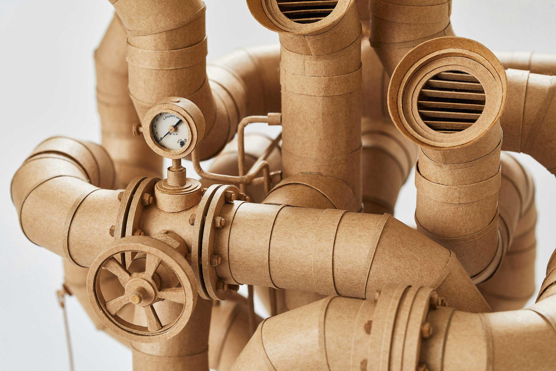 Papp-Steampunk-Roboter von Greg Olijnyk papproboter-Greg-Olijnyk_05