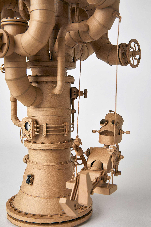 Papp-Steampunk-Roboter von Greg Olijnyk papproboter-Greg-Olijnyk_06