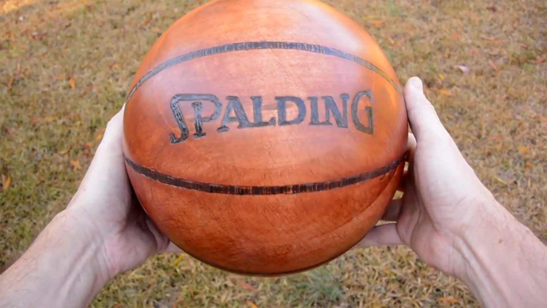 Basketball aus Holz herstellen