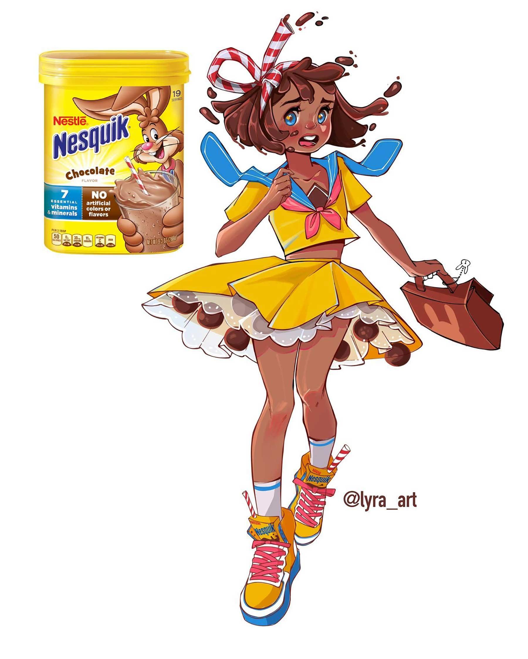 Wenn Snacks Menschen wären lyra-art-food-characters_02