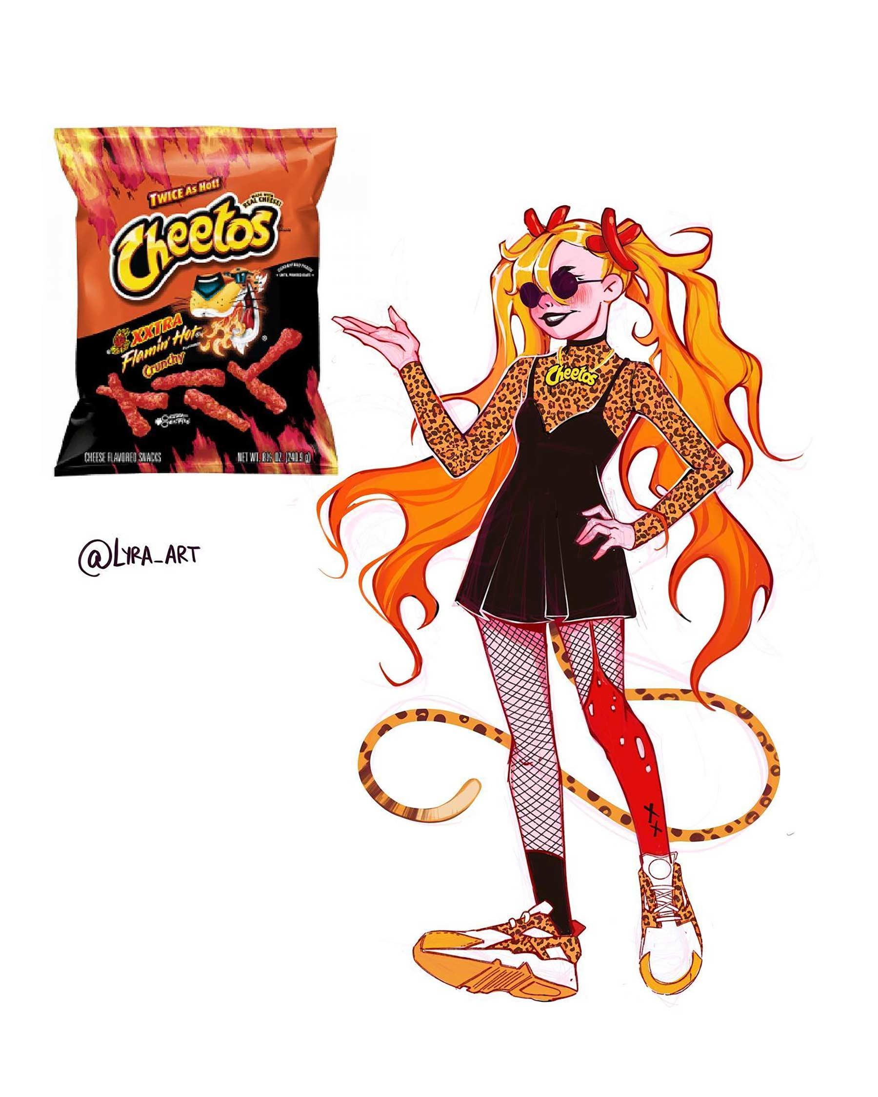 Wenn Snacks Menschen wären lyra-art-food-characters_03