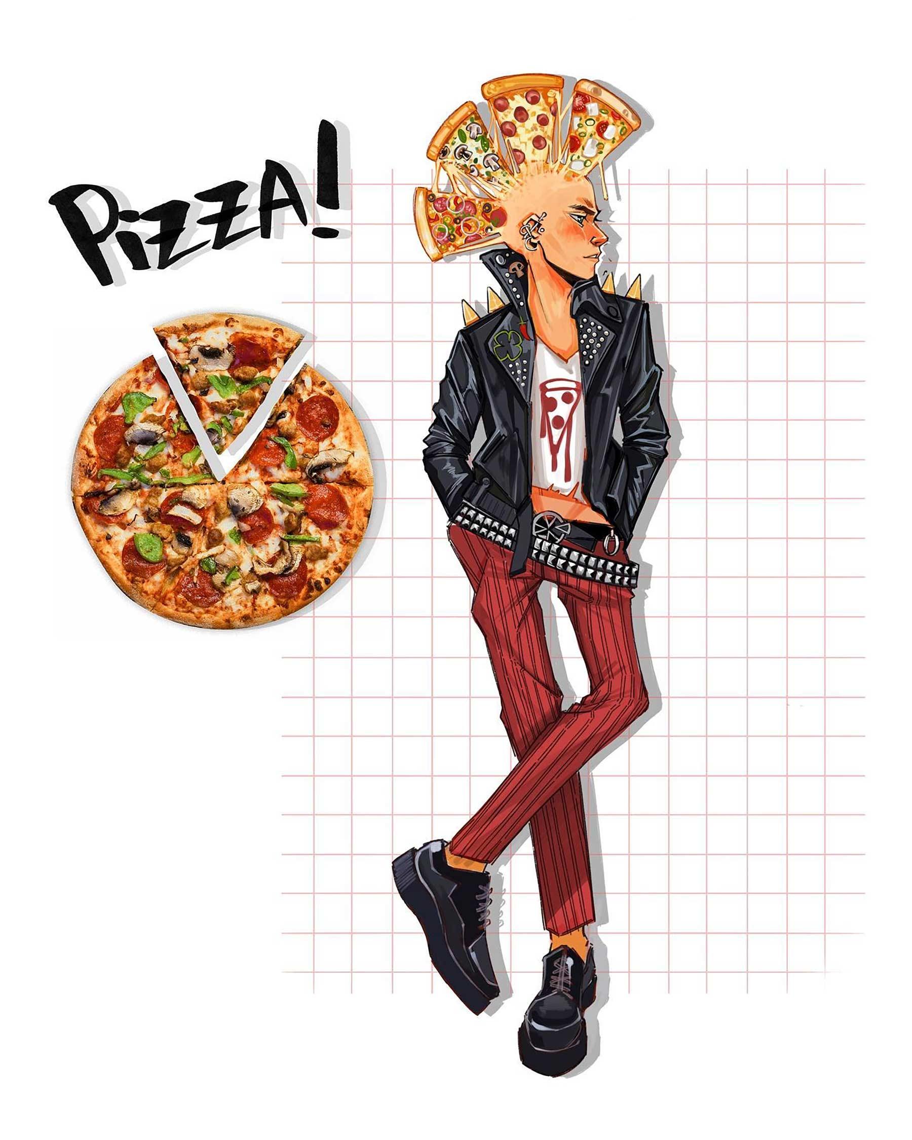 Wenn Snacks Menschen wären lyra-art-food-characters_05