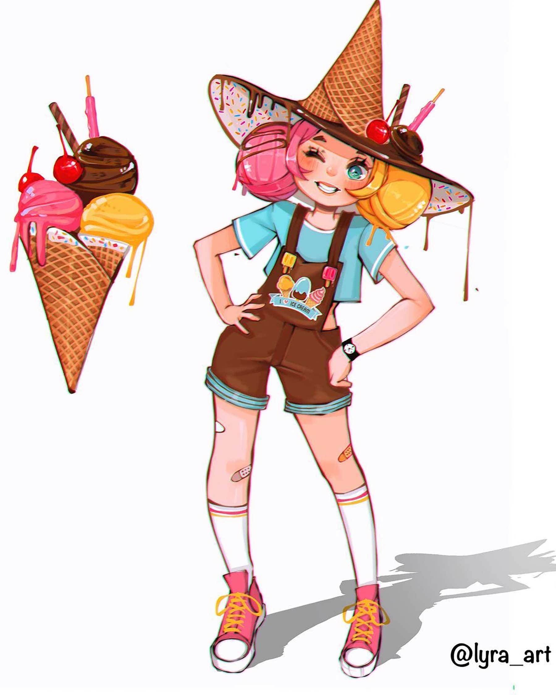 Wenn Snacks Menschen wären lyra-art-food-characters_06