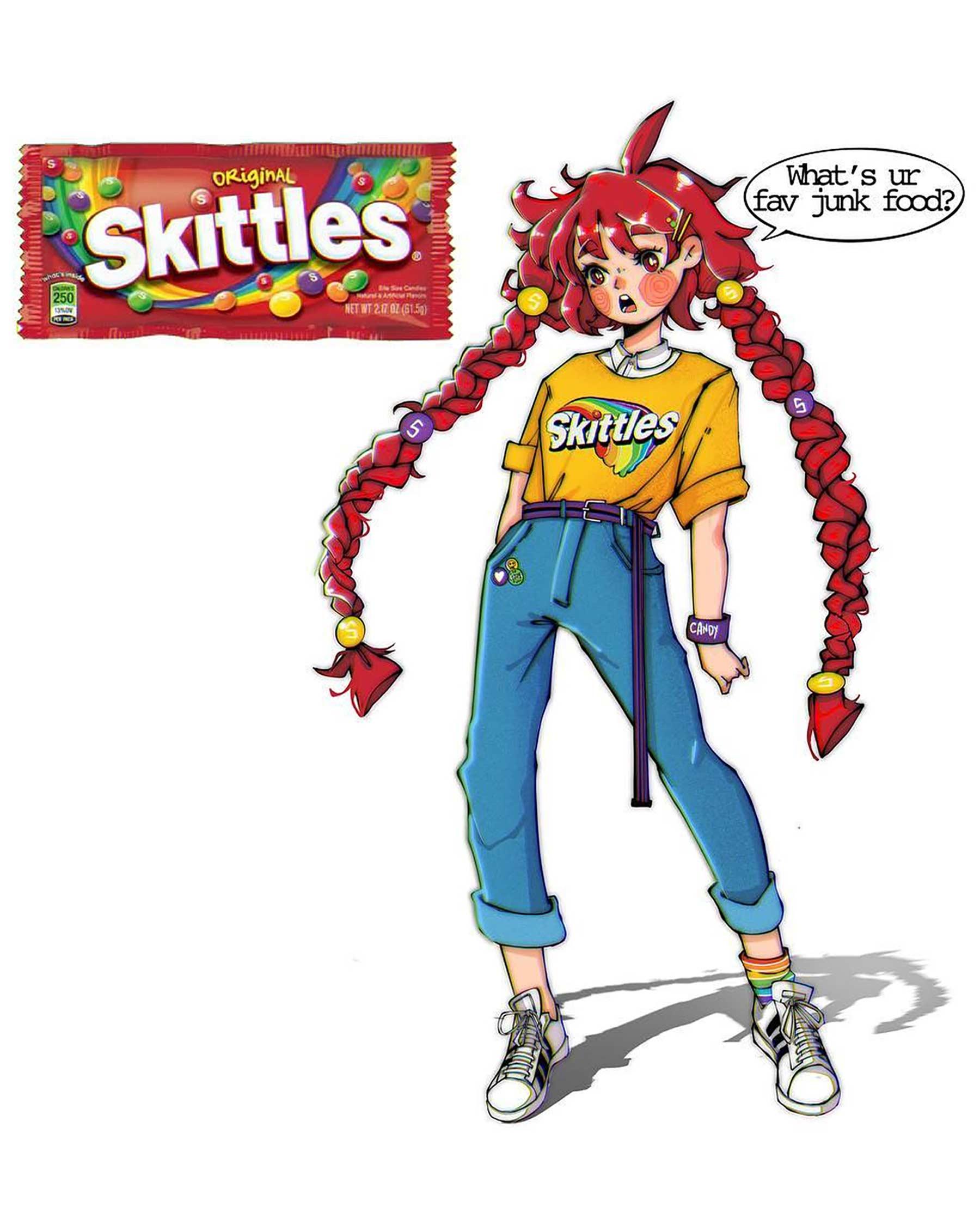 Wenn Snacks Menschen wären lyra-art-food-characters_09