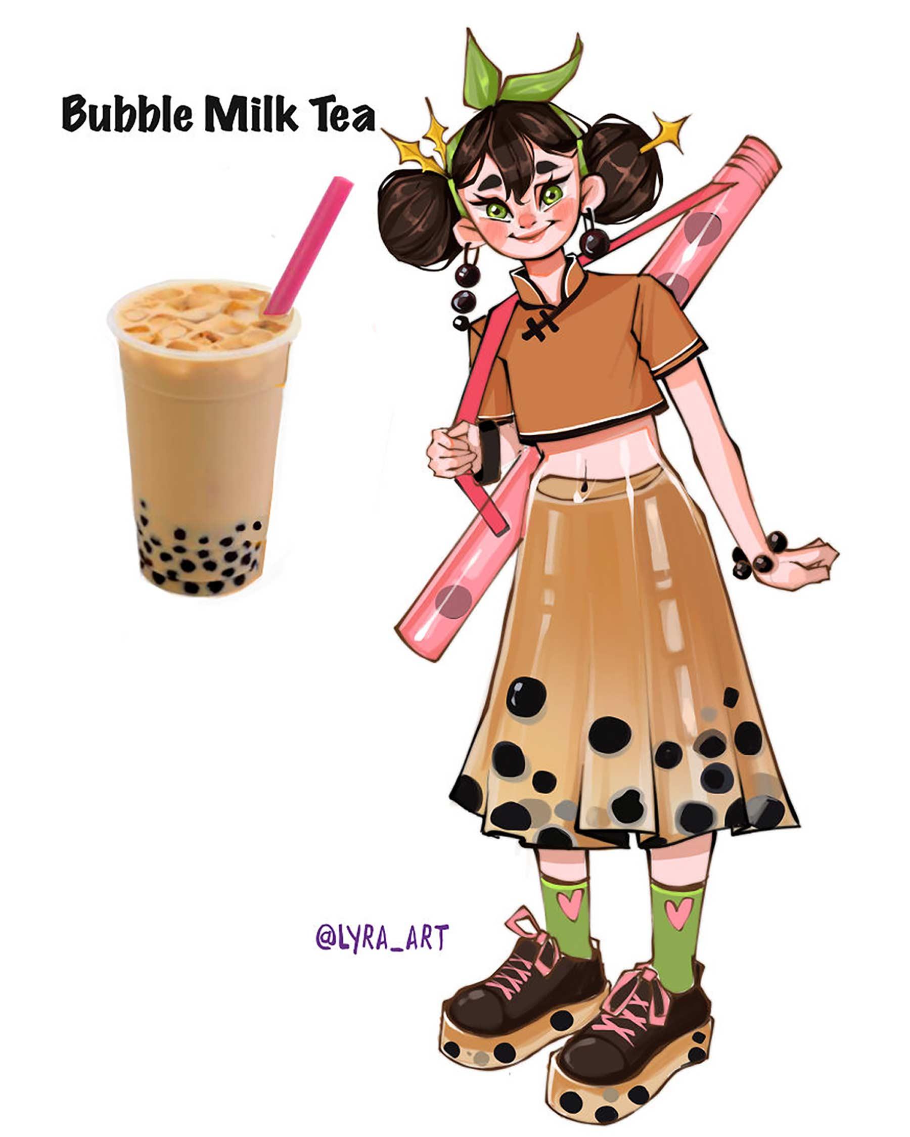 Wenn Snacks Menschen wären lyra-art-food-characters_13