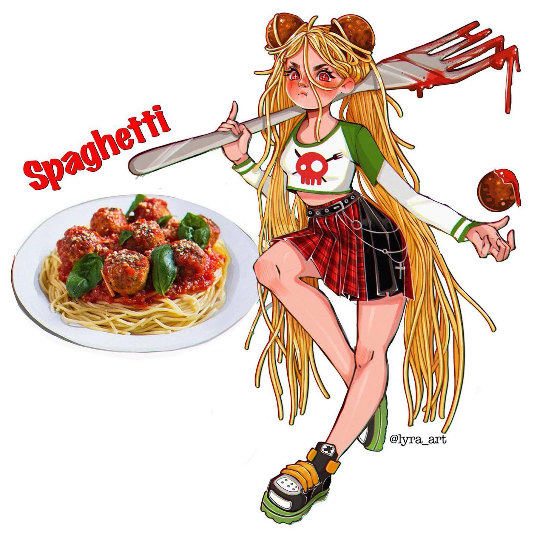 Wenn Snacks Menschen wären lyra-art-food-characters_15