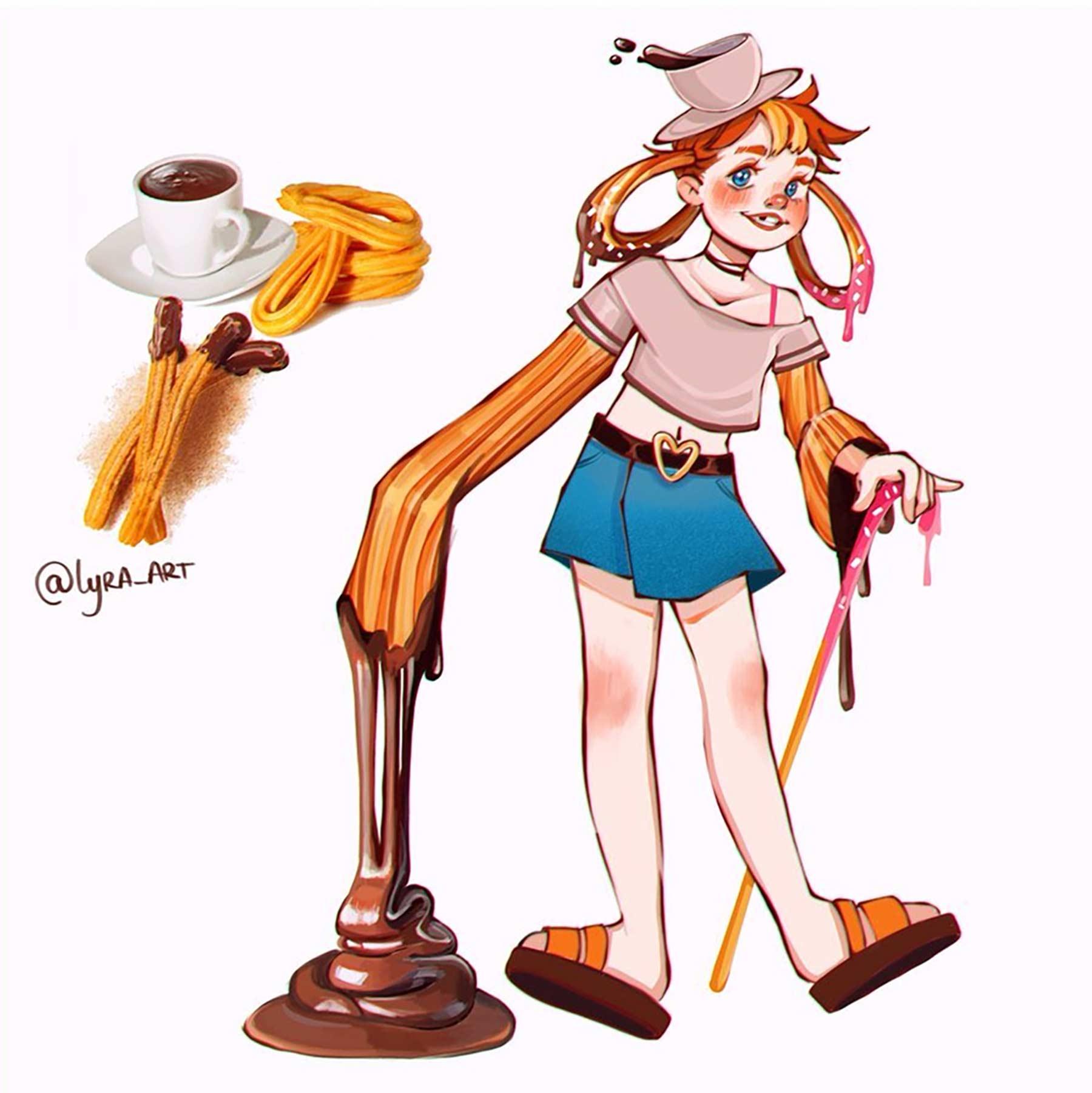 Wenn Snacks Menschen wären lyra-art-food-characters_16