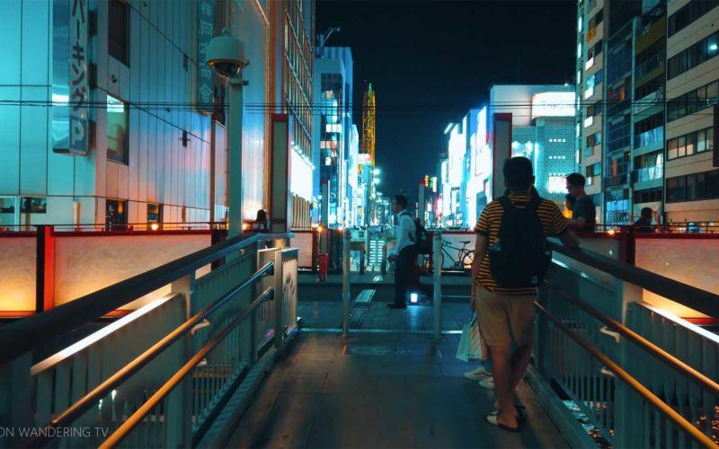 40-minütiger Spaziergang durch das nächtliche Osaka