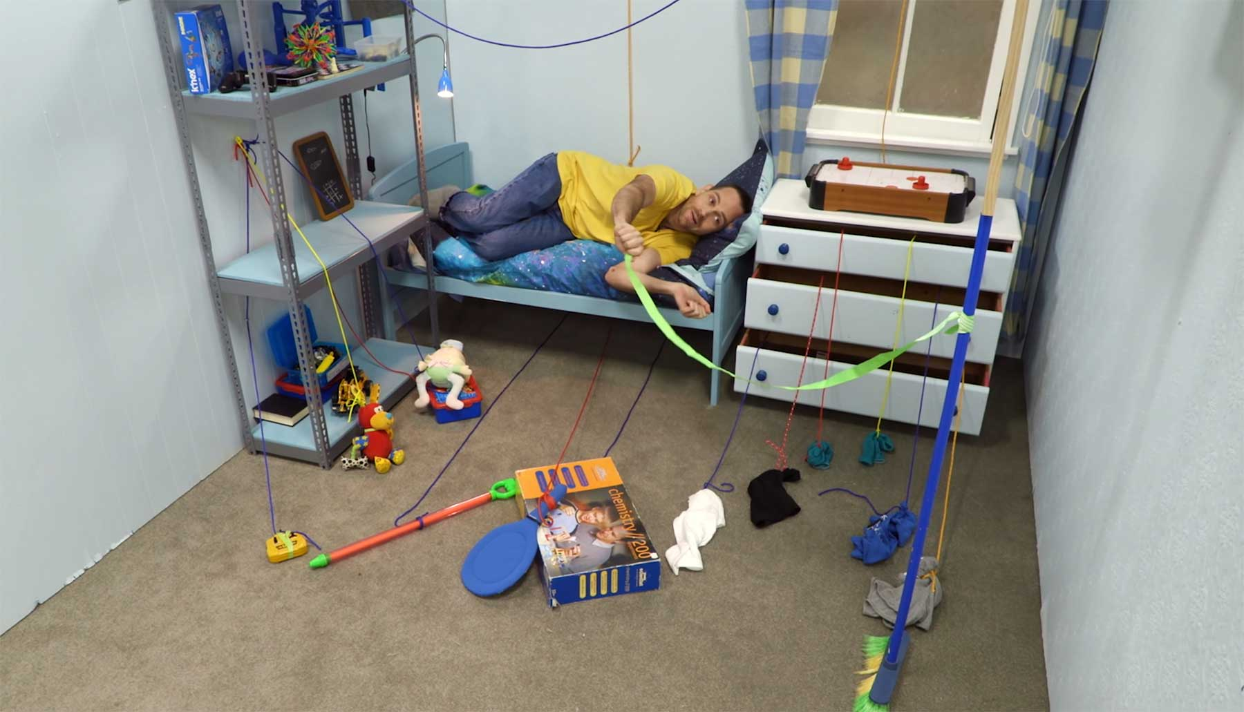 Wie man sein Zimmer binnen 10 Sekunde aufgeräumt bekommt