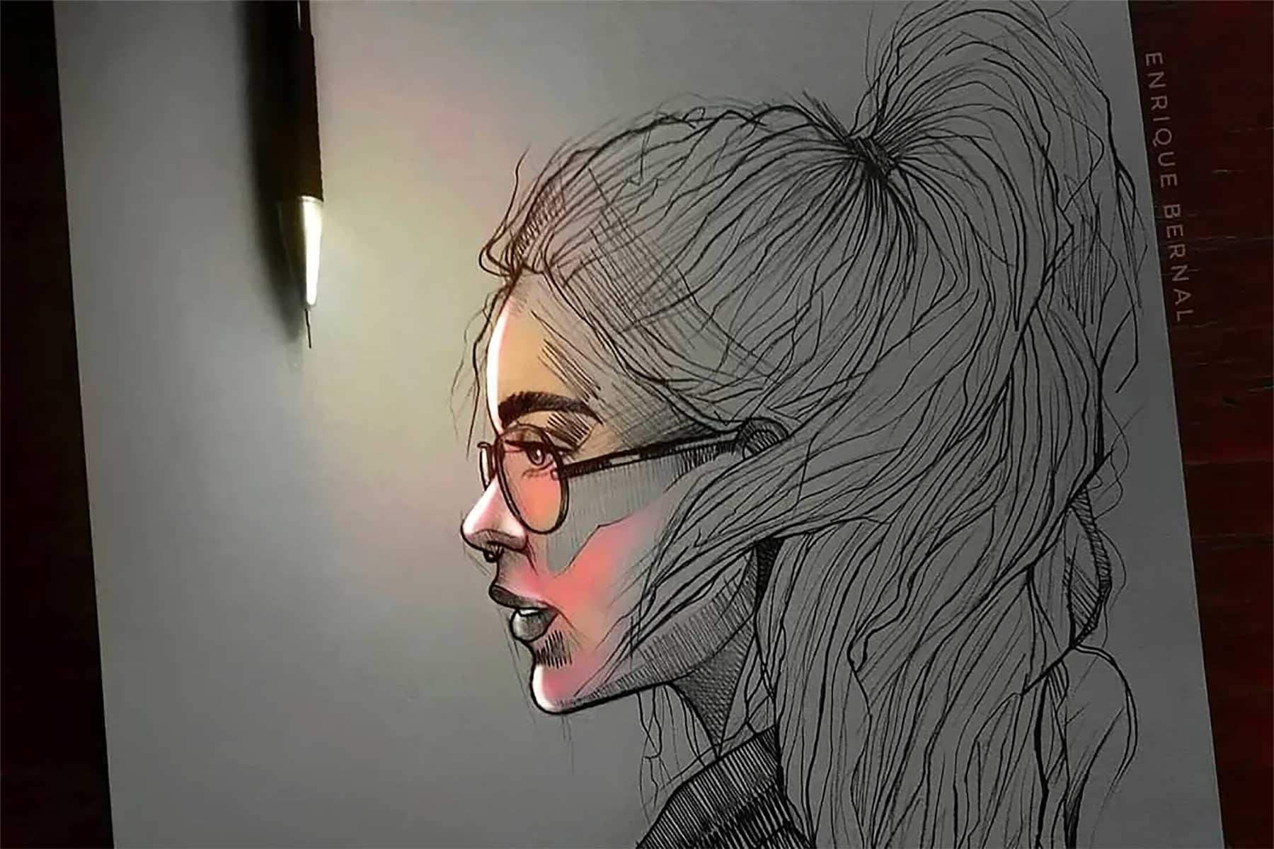 Zeichnungen von Enrique Bernal