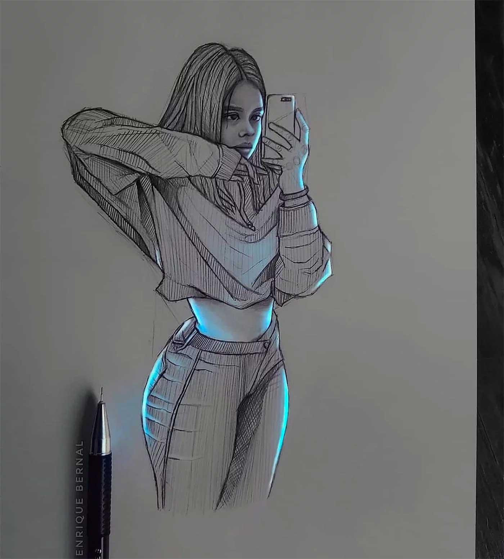 Zeichnungen von Enrique Bernal Enrique-Bernal-lichtzeichnungen_06