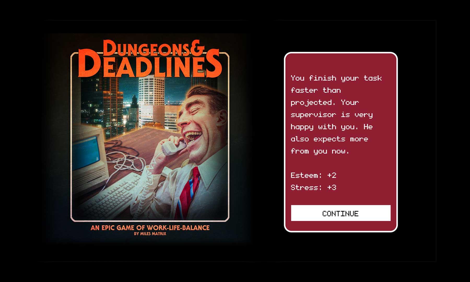 Dungeons & Deadlines lässt euch spielerisch die Work-Life-Balance meistern