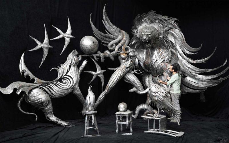 Geniale Altmetall-Skulpturen von Selçuk Yılmaz