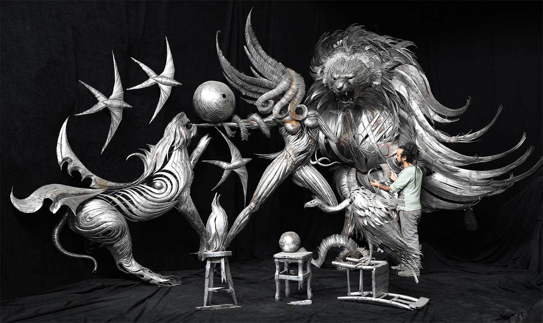 Geniale Altmetall-Skulpturen von Selçuk Yılmaz selcuk-yilmaz-metallskulpturen-2020_01