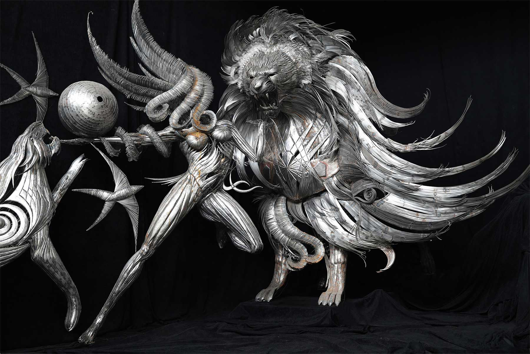 Geniale Altmetall-Skulpturen von Selçuk Yılmaz selcuk-yilmaz-metallskulpturen-2020_02