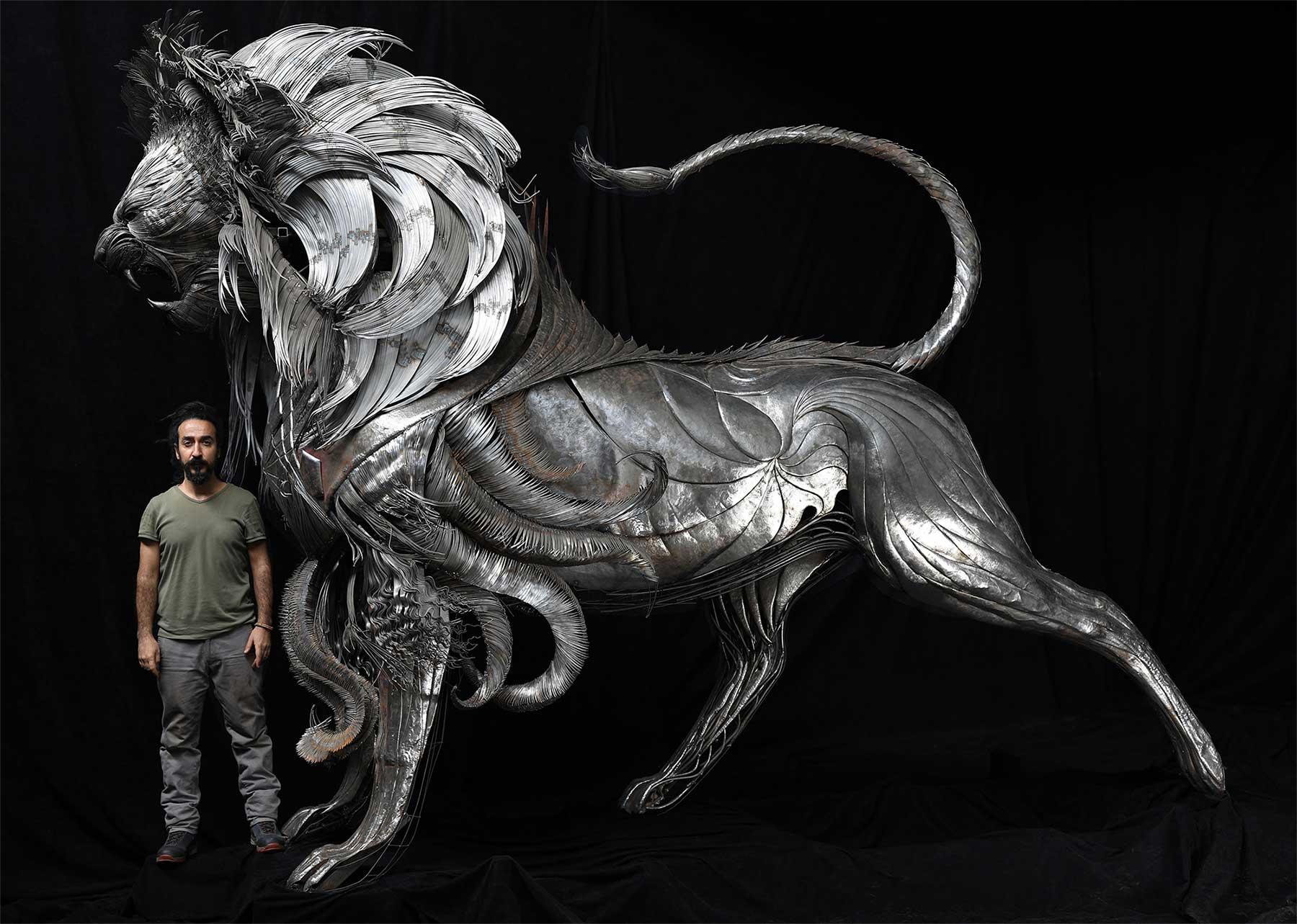 Geniale Altmetall-Skulpturen von Selçuk Yılmaz selcuk-yilmaz-metallskulpturen-2020_04