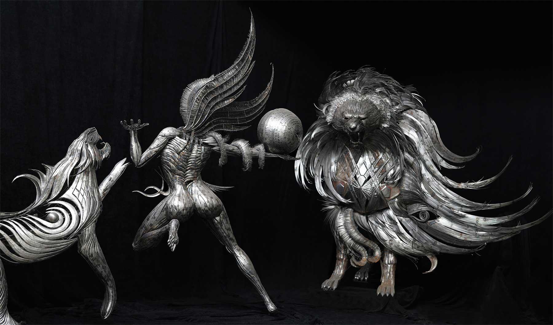 Geniale Altmetall-Skulpturen von Selçuk Yılmaz selcuk-yilmaz-metallskulpturen-2020_08