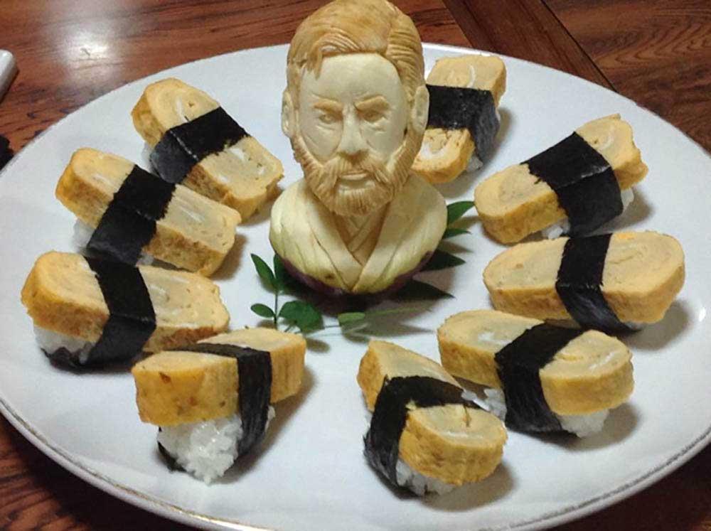 """""""Star Wars""""-Gemüseskulpturen von Okitsugu Kado sushi-gemuese-kreationen-star-wars_03"""
