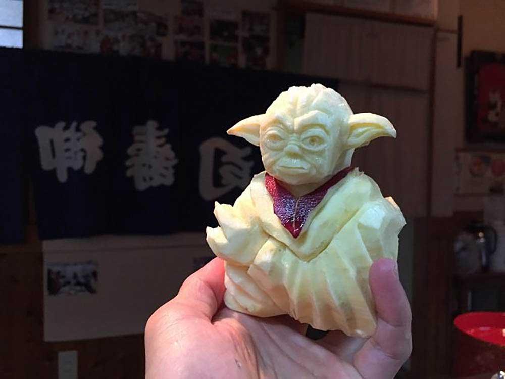 """""""Star Wars""""-Gemüseskulpturen von Okitsugu Kado sushi-gemuese-kreationen-star-wars_06"""