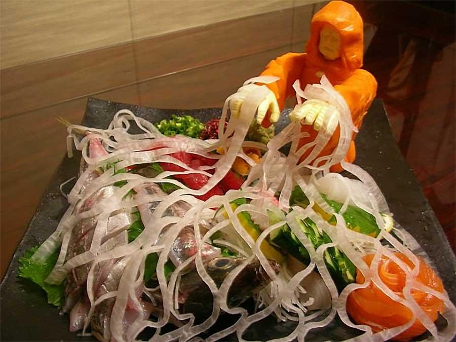 """""""Star Wars""""-Gemüseskulpturen von Okitsugu Kado sushi-gemuese-kreationen-star-wars_07"""