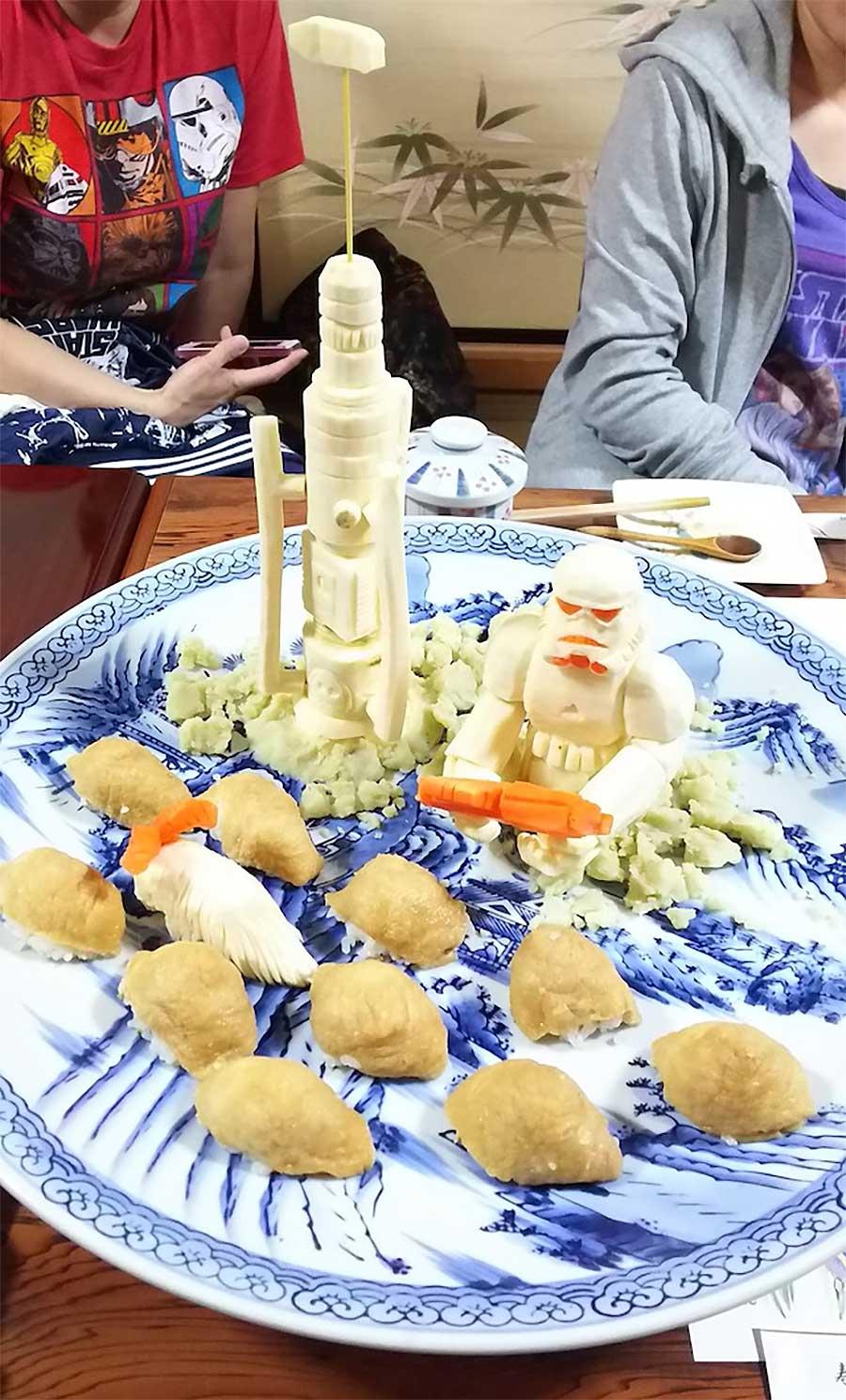 """""""Star Wars""""-Gemüseskulpturen von Okitsugu Kado sushi-gemuese-kreationen-star-wars_08"""