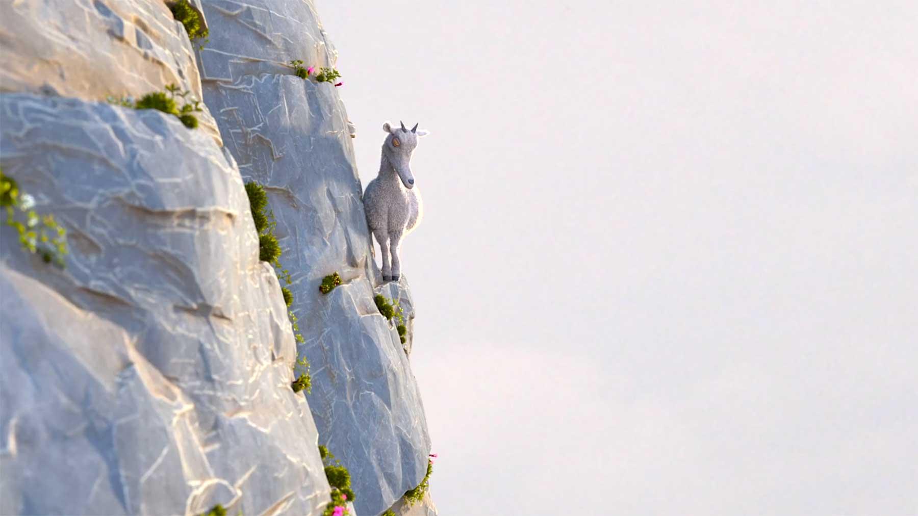 Die Legende von der Ziege, die die wahre Bedeutung des Berges kannte ziege-am-berg-animierter-kurzfilm