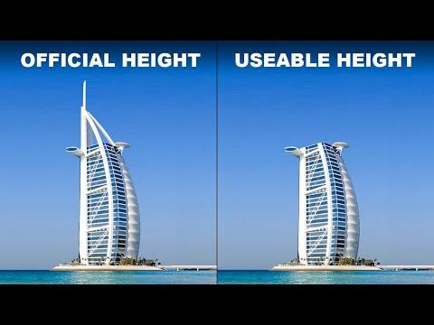 Wie die höchsten Gebäude der Welt sich ihre Länge erschummeln