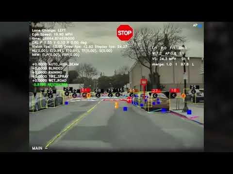 Das sieht der Tesla-Autopilot auf der Straße