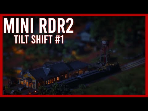 """Red Dead Redemption 2"" im Tilt-Shift Miniatur-Look"