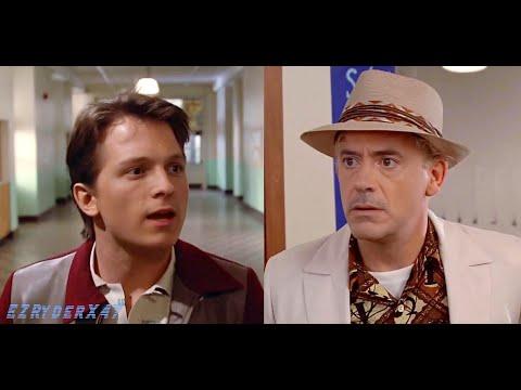 """Tom Holland und Robert Downey Jr. in """"Zurück in die Zukunft"""""""