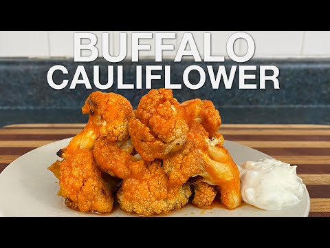 You Suck at Cooking: Buffalo Cauliflower Wings with Blue Cheese Dip