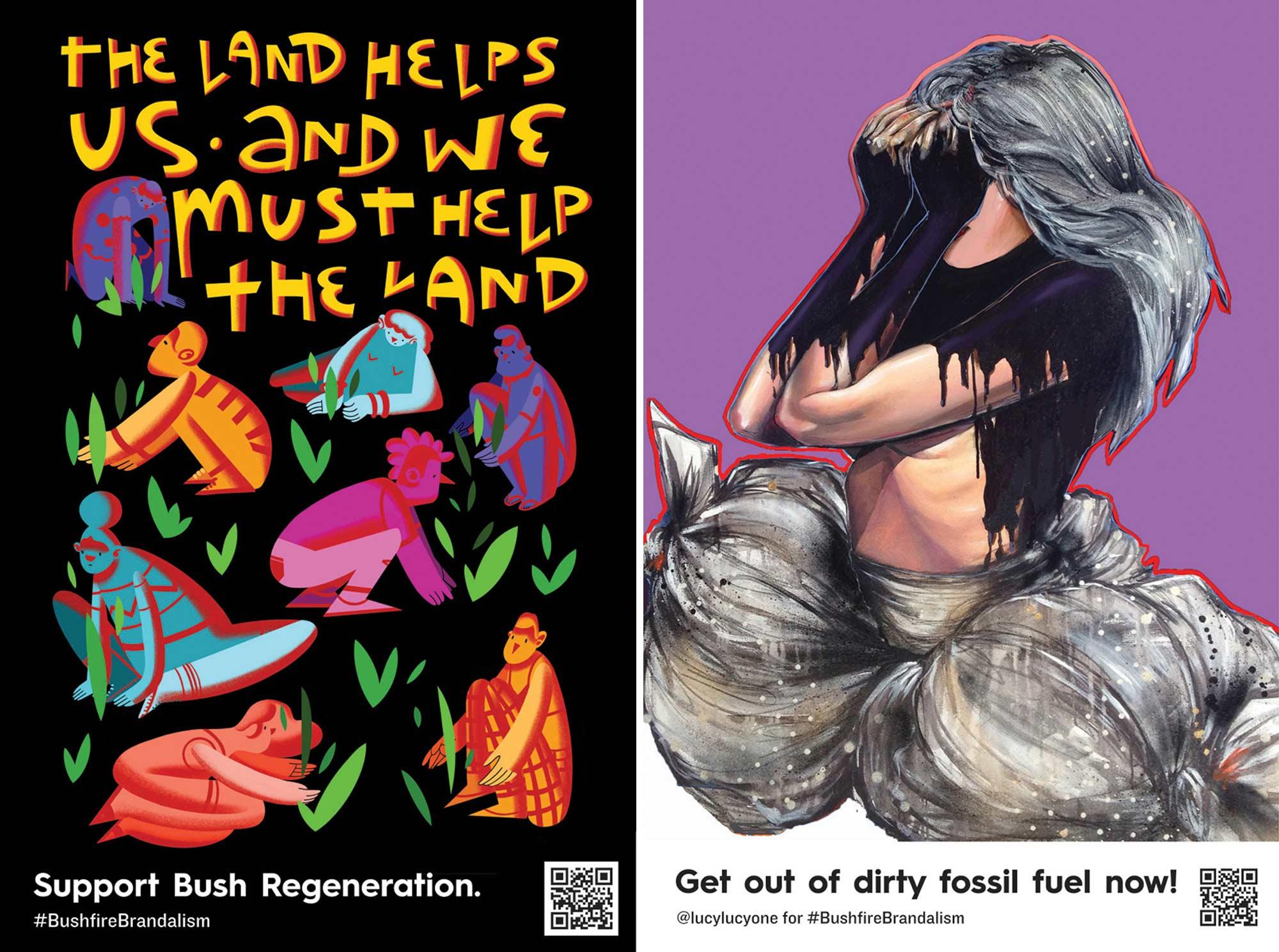 """""""Bushfire Brandalism"""": Guerilla-Werbeplakate für Klimawandel-Bewusstsein Bushfire-brandalism-guerilla-art-aktion_03"""