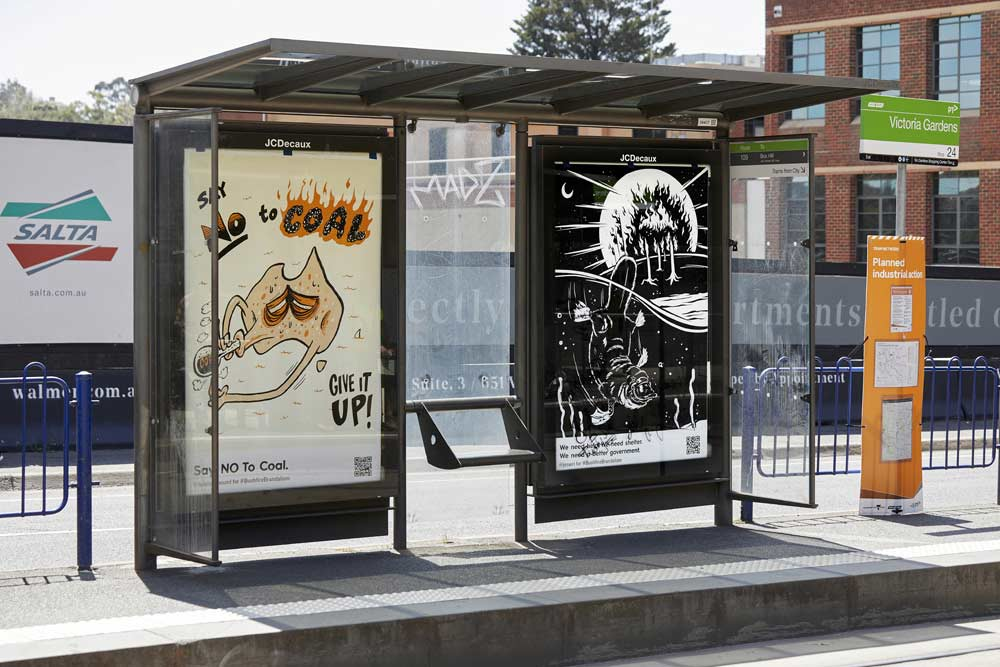 """""""Bushfire Brandalism"""": Guerilla-Werbeplakate für Klimawandel-Bewusstsein Bushfire-brandalism-guerilla-art-aktion_04"""