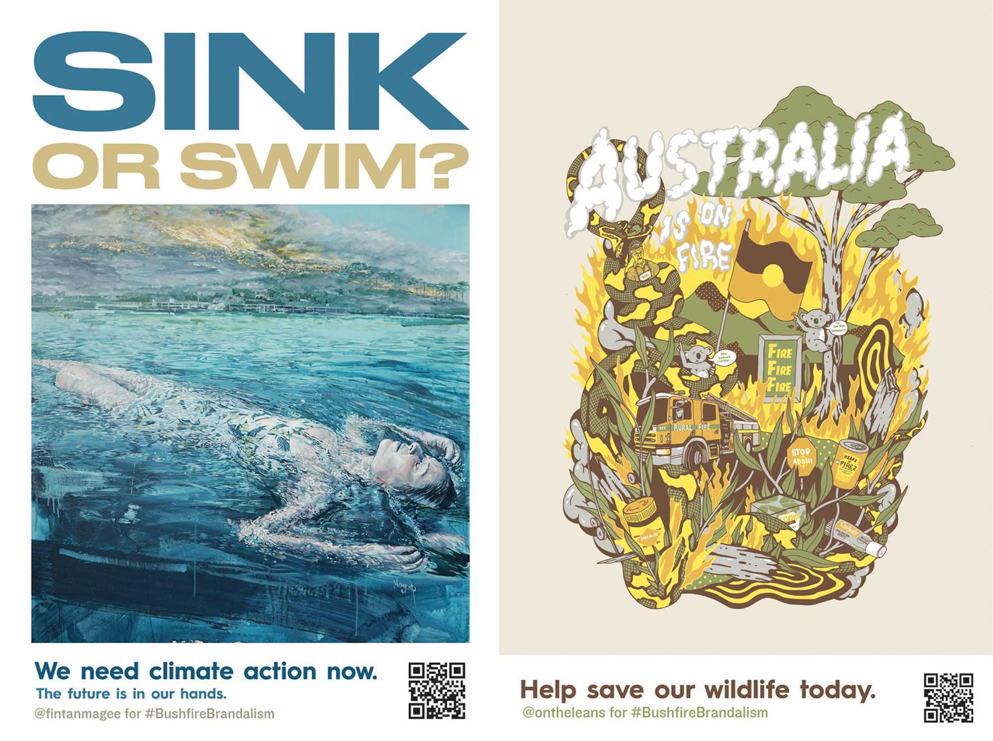 """""""Bushfire Brandalism"""": Guerilla-Werbeplakate für Klimawandel-Bewusstsein Bushfire-brandalism-guerilla-art-aktion_05"""