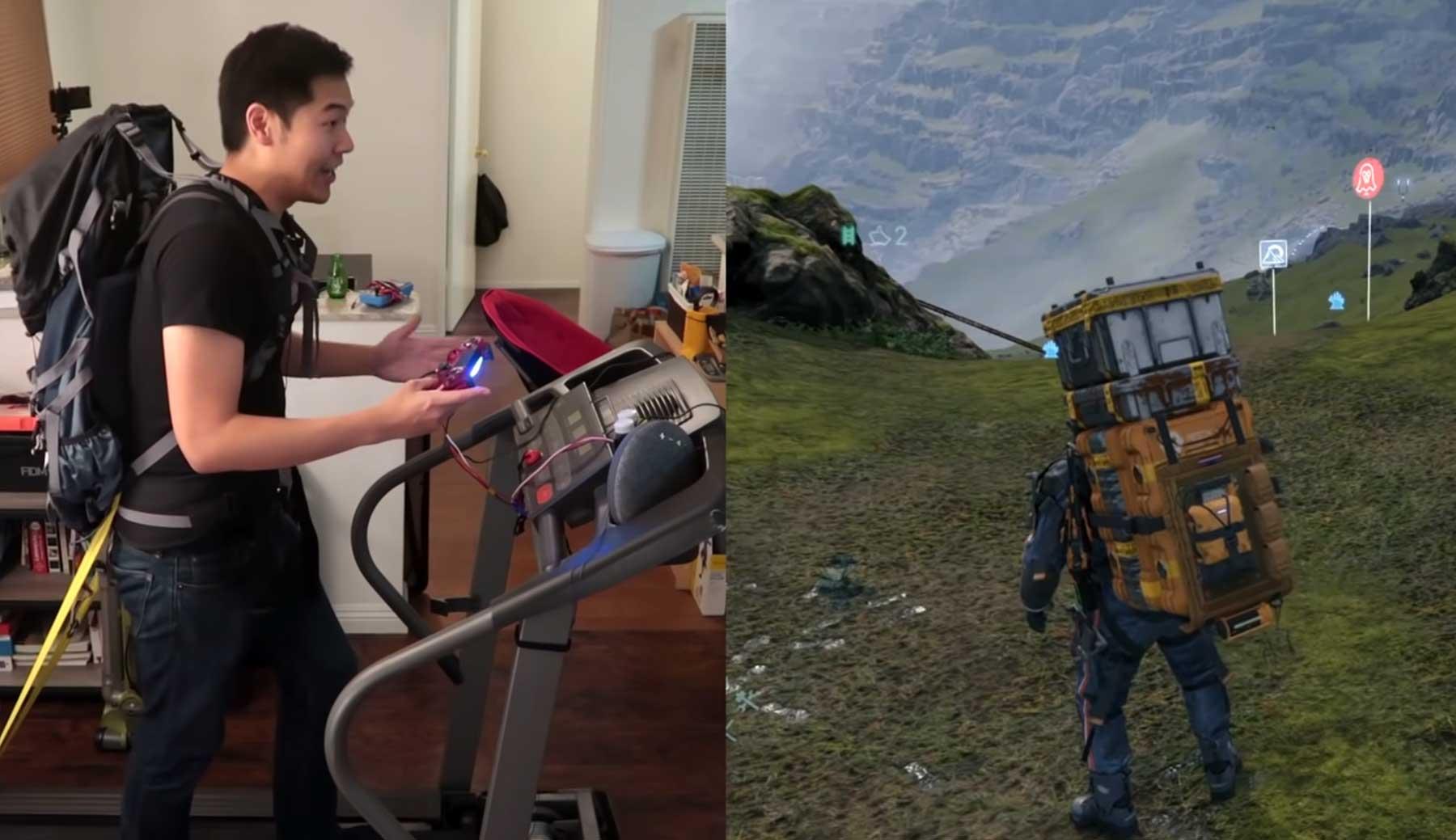 Laufband zum Videospiel-Controller umfunktioniert