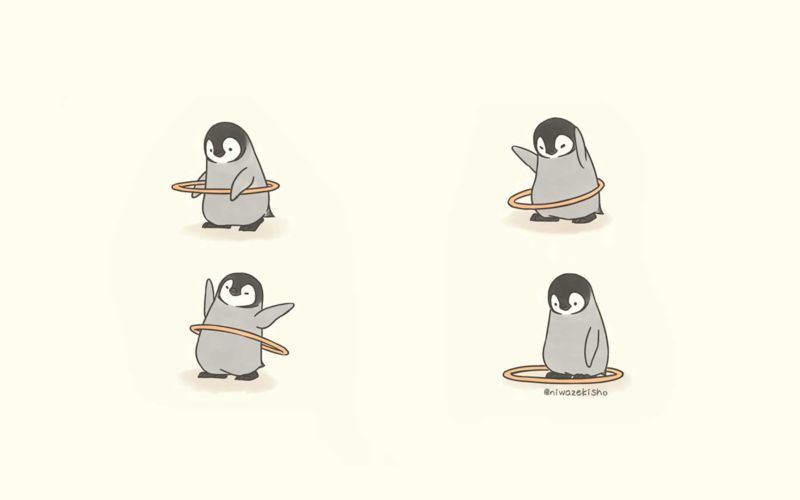 Süße Pinguin-Webcomics von Sheba