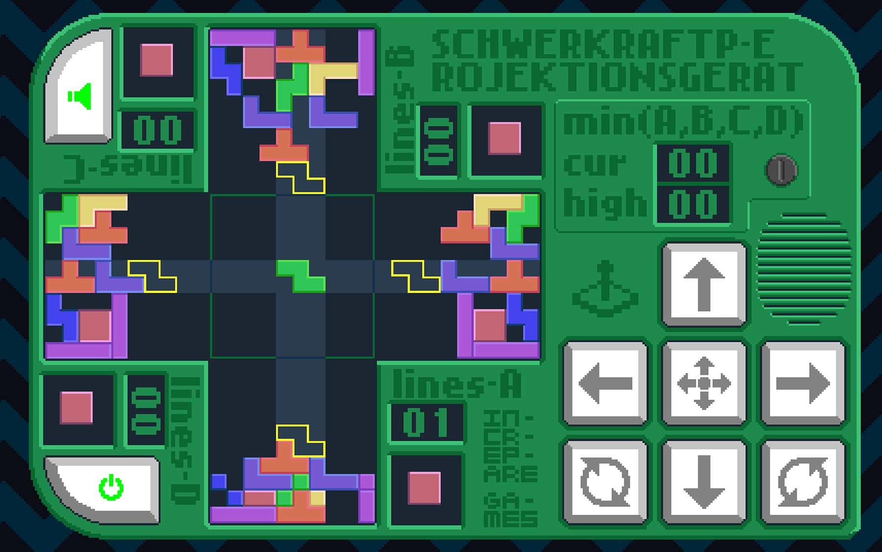 """Gleichzeitig vierfach """"Tetris"""" spielen"""